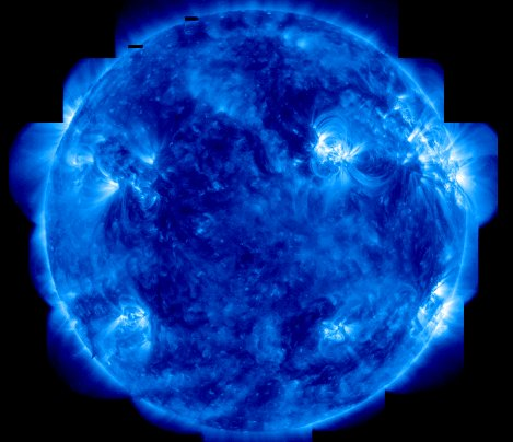 Mosaic image of the Sun from the TRACE satellite