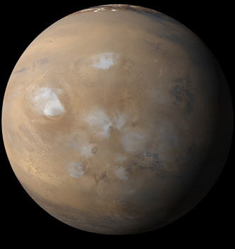 Image of Mars taken by the Mars Global Surveyor spacecraft